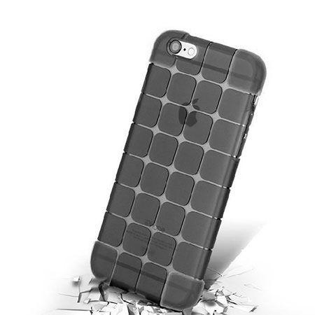 iPhone 6 CubeProtect przezroczyste etui silikonowe dymione czarne.