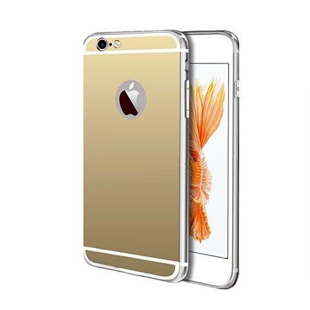 iPhone 6 / 6s lustro - etui lustrzane - mirror silikonowe TPU - złote.