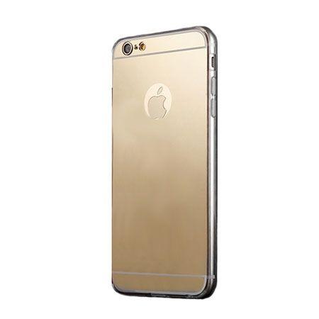 iPhone 5 / 5s lustro - mirror, silikonowe elastyczne TPU - złote.