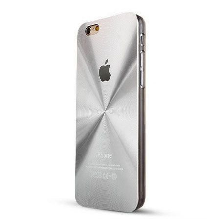 iPhone 6 / 6s srebrne plecki aluminiowe efekt cd