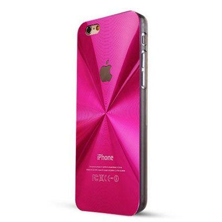 iPhone 6 / 6s różowe plecki aluminiowe efekt cd