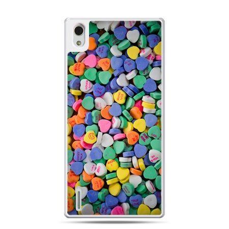 Huawei P7 etui slodkie serduszka