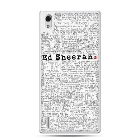 Huawei P7 etui Ed Sheeran białe poziome