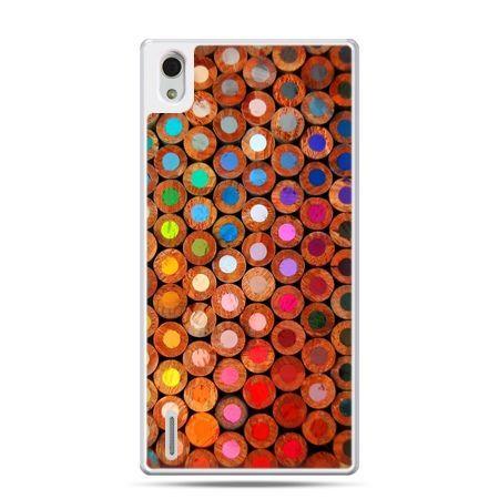 Huawei P7 etui kolorowe kredki