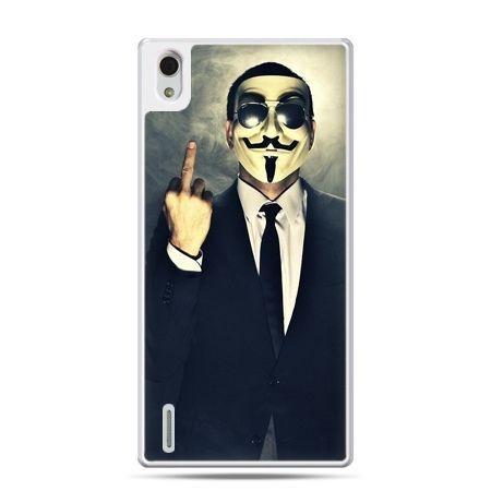 Huawei P7 etui Anonimus Fuck You