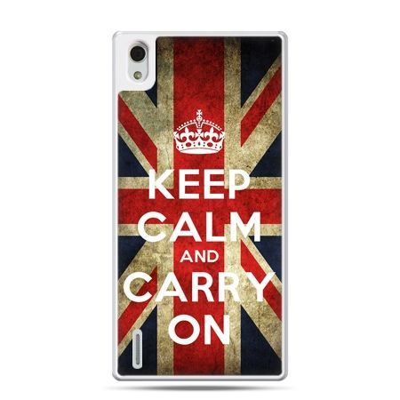Huawei P7 etui Keep calm and carry on