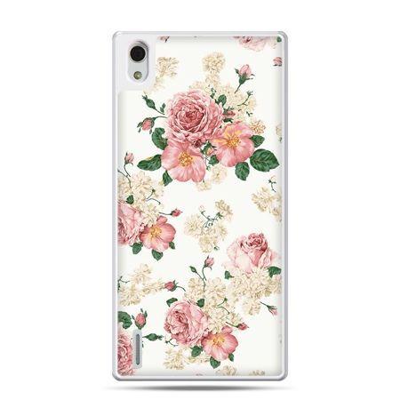 Huawei P7 etui polne kwiaty