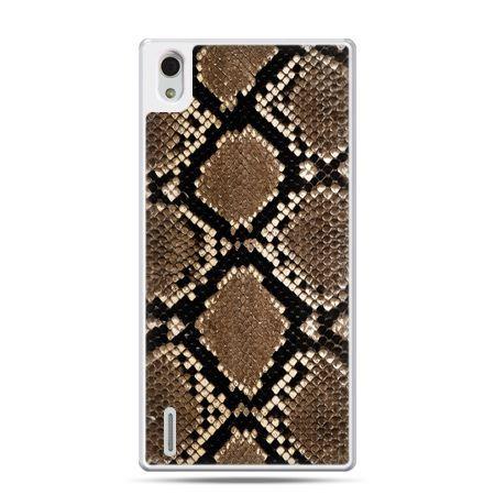Huawei P7 etui skóra węża