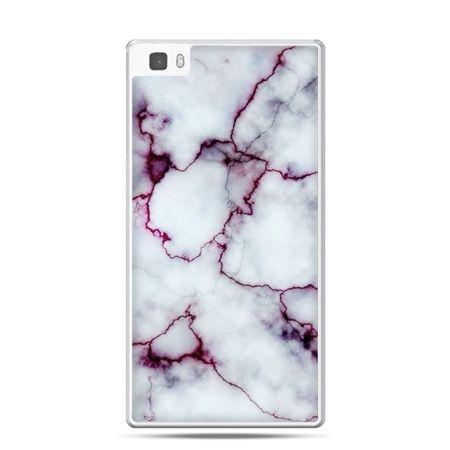Huawei P8 etui różowy marmur