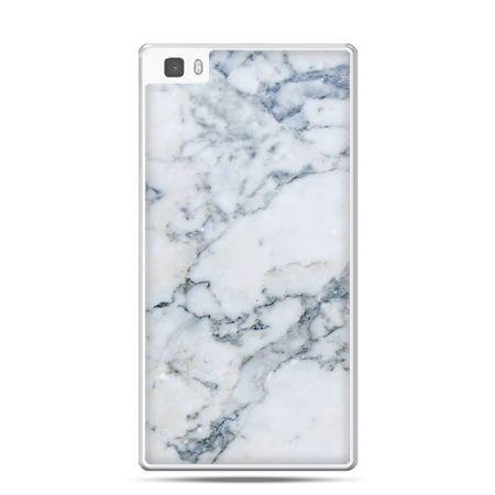 Huawei P8 etui biały marmur