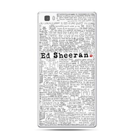 Huawei P8 etui Ed Sheeran białe poziome