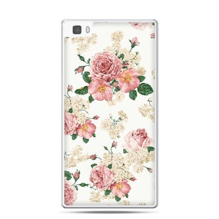 Huawei P8 etui polne kwiaty