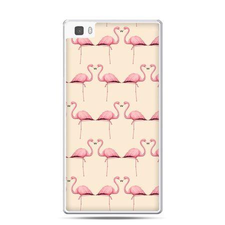 Huawei P8 etui flamingi
