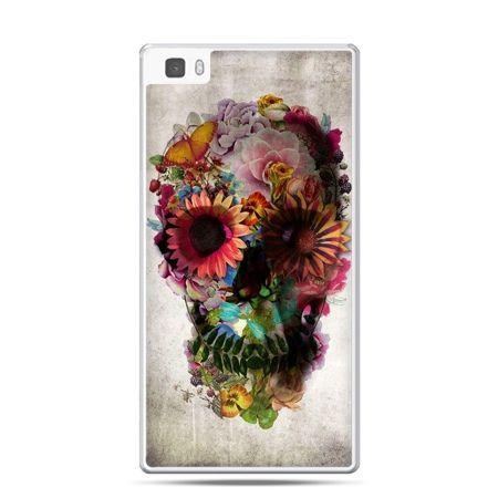 Huawei P8 etui czaszka z kwiatami