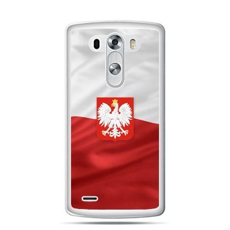 Etui na telefon LG G4 patriotyczne - flaga Polski z godłem