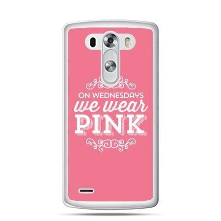 LG G4 etui różowe z napisem
