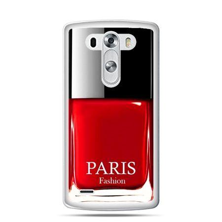 LG G4 etui lakier do paznokci czerwony