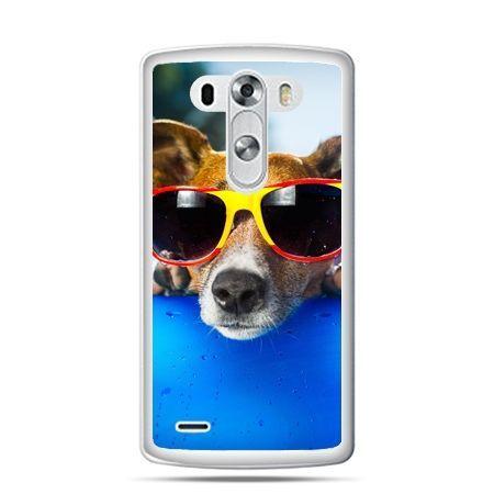 LG G4 etui pies w kolorowych okularach