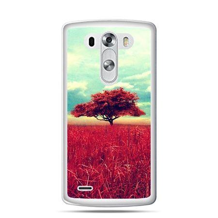 LG G4 etui czerwone drzewo