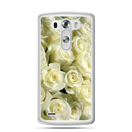 LG G4 etui białe róże