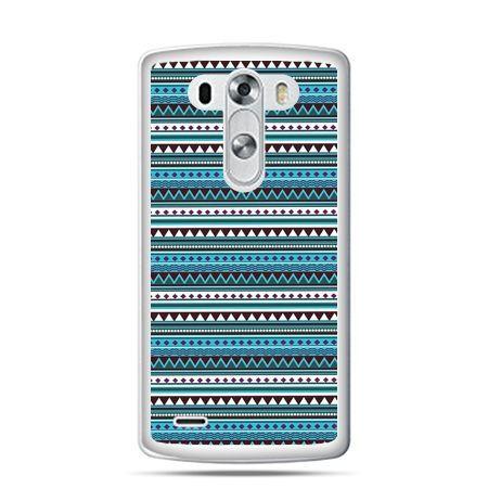 LG G4 etui niebieski wzorek poziomy