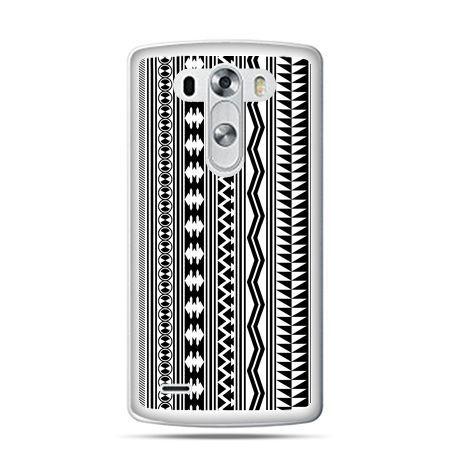 LG G4 etui czarno biały wzorek