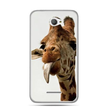 Xperia E4 etui żyrafa z językiem
