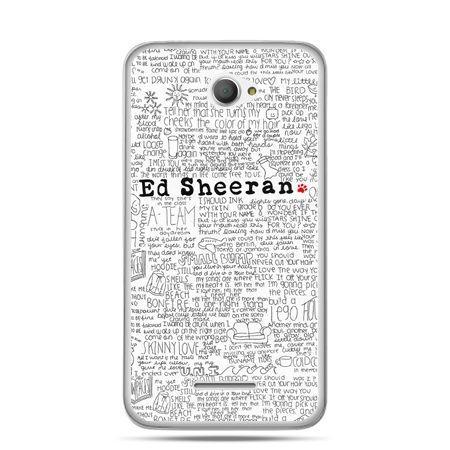 Xperia E4 etui Ed Sheeran białe poziome