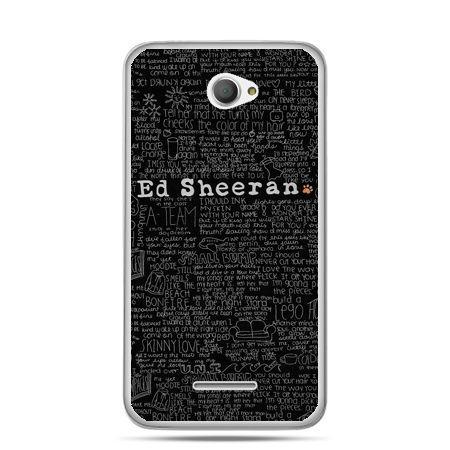 Xperia E4 etui ED Sheeran czarne poziome