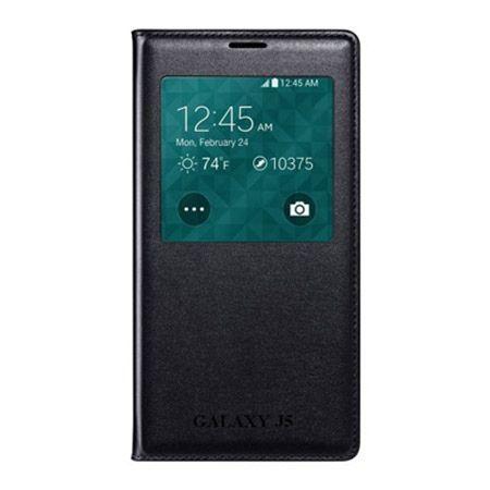 Galaxy J5 etui Flip S View z klapką czarne.