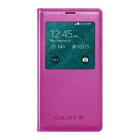 Galaxy J5 etui Flip S View z klapką różowe.