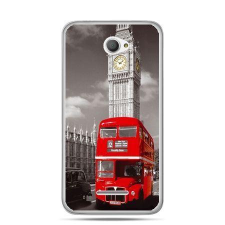 Xperia E4 etui czerwony autobus londyn