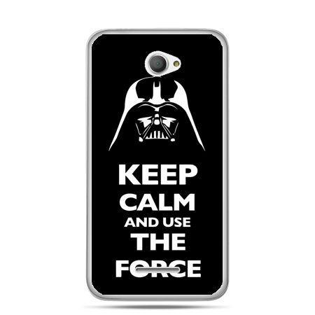 Xperia E4 etui Keep calm and use the force