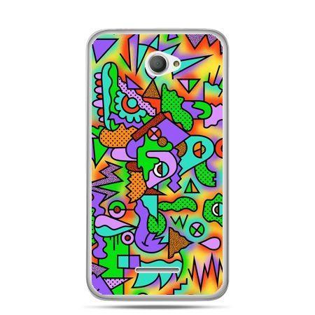 Xperia E4 etui kolorowa abstrakcja