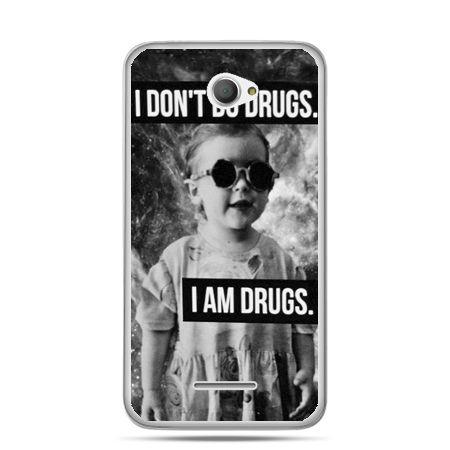Xperia E4 etui I don`t do drugs I am drugs