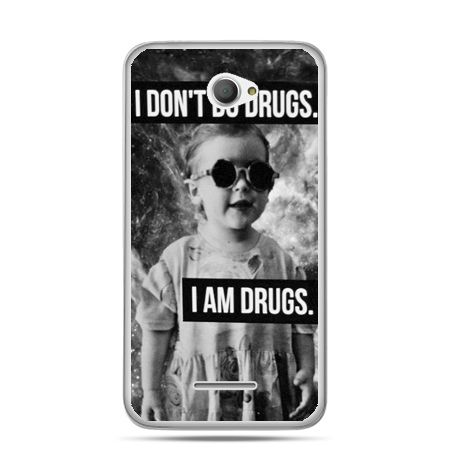 Xperia E4 etui I don`t do drugs I am drugs
