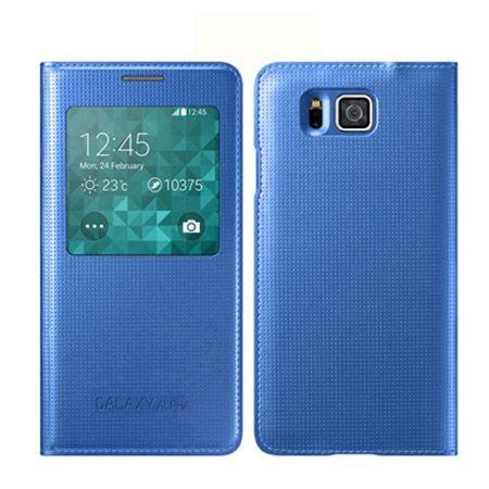 Galaxy Alpha Flip S View z klapką niebieskie.