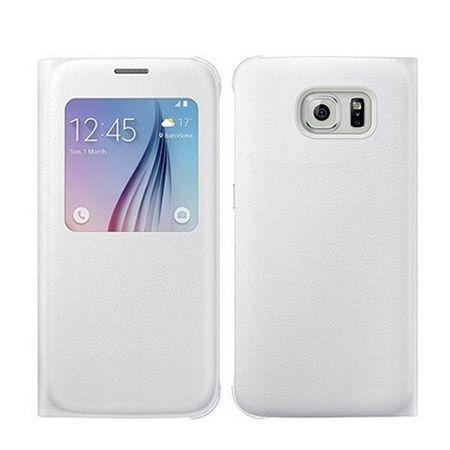 Galaxy S6 Edge Flip S View z klapką białe.