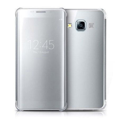 Galaxy A5 etui Flip Clear View srebrne.