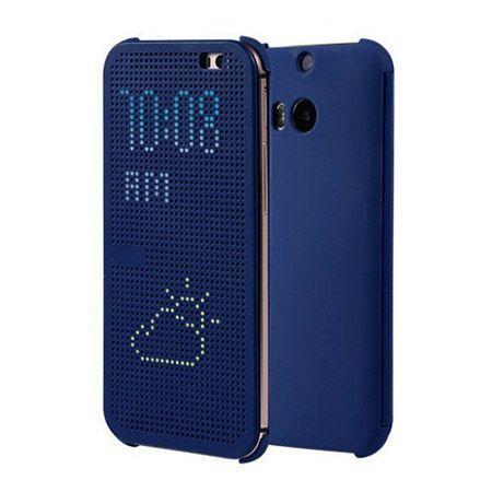 HTC Desire 620 etui Flip Dot View granatowe.