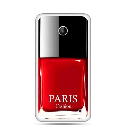 Nokia Lumia 630 etui lakier do paznokci czerwony
