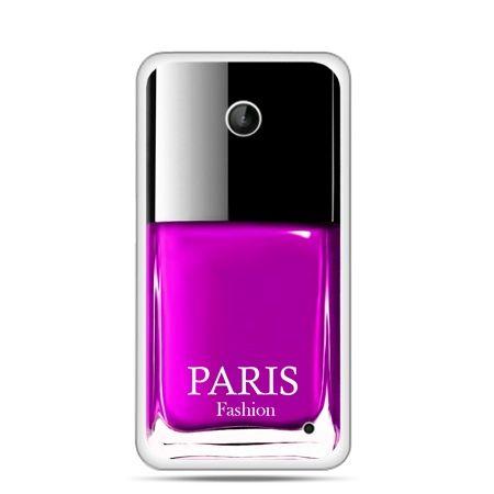 Nokia Lumia 630 etui lakier do paznokci różowy