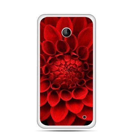 Nokia Lumia 630 etui czerwona dalia