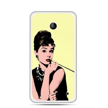 Nokia Lumia 630 etui Audrey Hepburn z papierosem