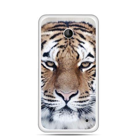 Nokia Lumia 630 etui śnieżny tygrys