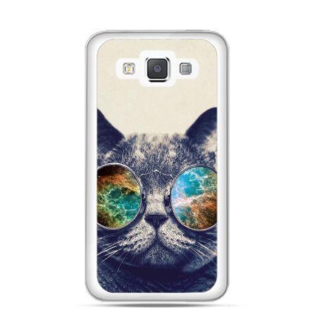 Etui na Galaxy A5 Kot w tęczowych okularach