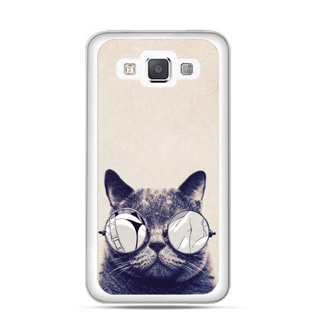 Etui na Galaxy A5 Kot hipster w okularach
