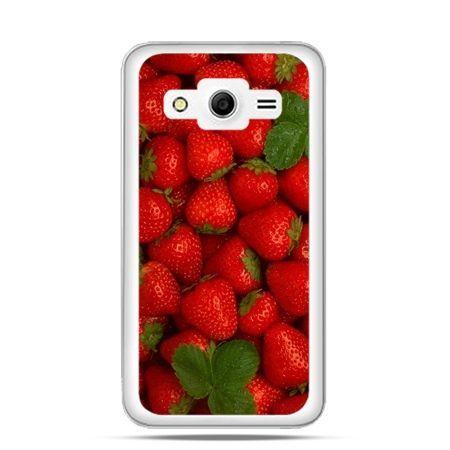 Etui na Galaxy Core 2 Czerwone truskawki