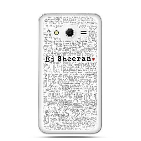 Etui na Galaxy Core 2 Ed Sheeran białe poziome