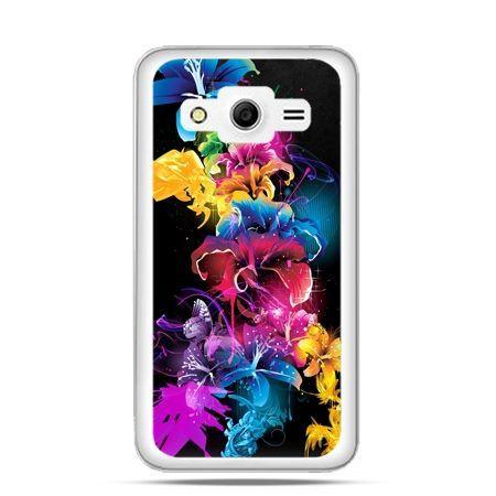 Etui na Galaxy Core 2 Kolorowe kwiaty